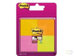 Bloc-mémos 3M Post-it 6910-SSSP Super Sticky 51x51mm assorti