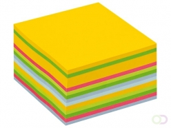 Bloc-mémos Post-it 2028U cube 76x76mm néon 450 feuillets