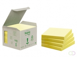 Bloc-mémos Post-it 654-1B 76x76mm 6 blocs recyclé jaune