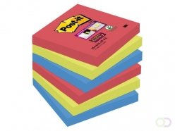 Bloc-mémos Post-it 654-SSJP Super Sticky 76x76mm Bora Bora