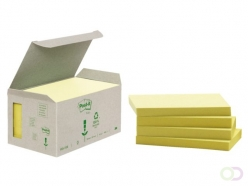 Bloc-mémos Post-it 655-1B 76x127mm 6 blocs recyclés jaune