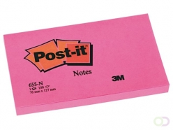 Bloc-mémos Post-it 655-NRO 76x127mm néon rose