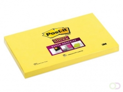 Bloc-mémos Post-it 655-S Super Sticky 76x127mm jaune