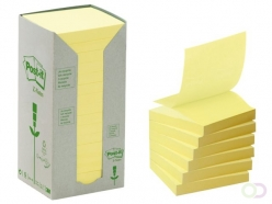 Bloc-mémos Post-it Z-Notes recyclé R330-1T 76x76mm jaune