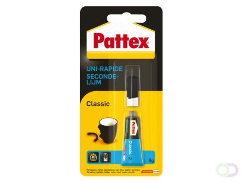 Colle seconde Pattex tube 3g sous blister
