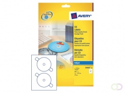 Etiquette CD Avery C9660-25 brillant 50 pièces