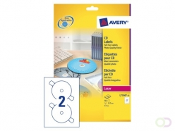 Etiquette CD Avery L7760-25 maxi-couvrantes brillant 50 pcs