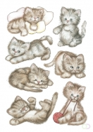 Etiquette Herma 3477 Mignons chatons