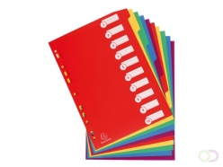 Intercalaires Exacompta 11 perf 10 onglets assorti PP