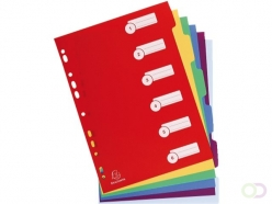 Intercalaires Exacompta 11 perforations 6 onglets PP assorti