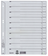 Intercalaires Leitz 1650 carton 200g A4 4 perforations gris