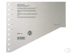 Intercalaires Leitz 1651 carton 200g A4 11 perforations gris