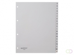 Intercalaires Quantore 4 perf 20 onglets A-Z gris PP