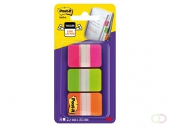 Marque-pages 3M Post-it 686PGOT strong rose/vert/orange