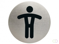 Pictogramme Durable 4905 toilettes hommes rond 83mm