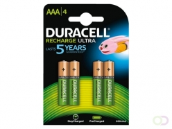 Pile rechargeable Duracell 4xAAA 800mAh precharged