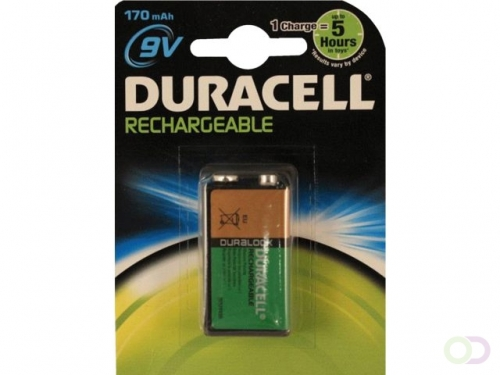 Pile rechargeable Duracell 9V 170mAh staycharged