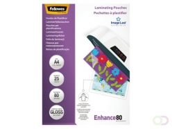 Pochette de plastification Fellowes A4 2x80mic 25pcs