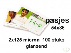 Pochette de plastification GBC carte 54x86mm 2x125mic 100pcs
