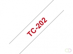Ruban Brother P-Touch TC202 12mm rouge sur blanc