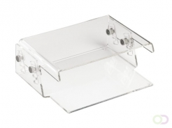 Support moniteur Quantore 15kg transparent