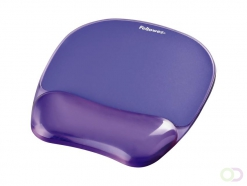Tapis souris avec repose-poignets Fellowes Crystals gel transparent violet