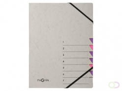 Trieur Pagna Easy 7 intercalaires A4 PP gris/lilas