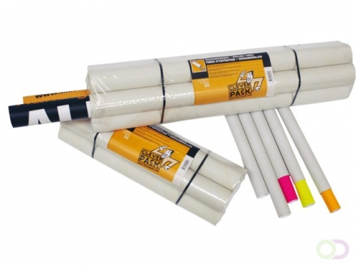 Tube d'expédition CleverPack A2+bouchons 450x50x1.5mm blanc