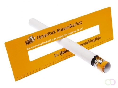 Tube d'expédition Cleverpack A3+bouchons 330x29.7x1.2 blanc